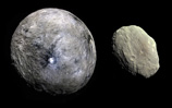"1 Ceres <img src=""../images/asteroids/ceres-symbol.png""> and 4 Vesta <img src=""../images/asteroids/vesta-symbol.png""> shown to scale"
