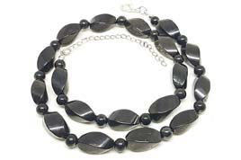 Karelian Heritage Natural Petrovsky Shungite Beaded Necklace