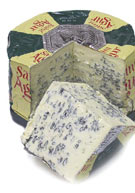 From France, rich and creamy (60% butterfat): St. Agur Blue