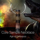 Yours: 186 million year Mesozoic Era core sample necklace