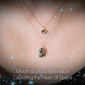 Lunar dust and meteorite necklace