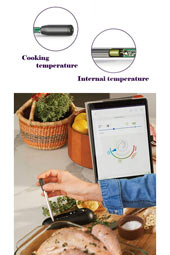 Kitchen Bluetooth Cooking Grilling BBQ Steak Thermometer With Probe, Indoor Outdoor Accessories Gadget