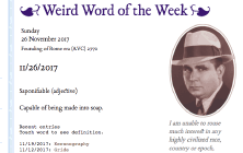 Weird word of the week: Snarge