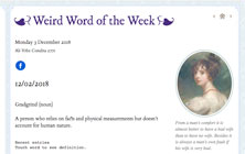 Weird word of the week