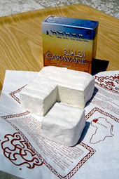 Minimally available: Caravane camel milk cheese produced in Mauritania  ☆ © Tiviski