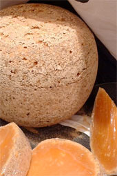 Deriving its unique flavor through the ministrations of cheese mites: Mimolette