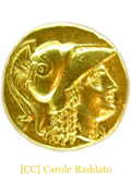 Gold coin of Alexander the Great (336-323 bce)