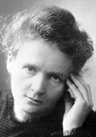 Polonium discoverer Marie Curie (1867-1934)