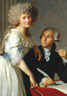 Early platinum researcher Antoine Lavoisier (1743-1794) and wife Marie-Anne Paulze
