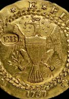 Legendary 1787 gold Brasher Doubloon, one of the world's rarest coins